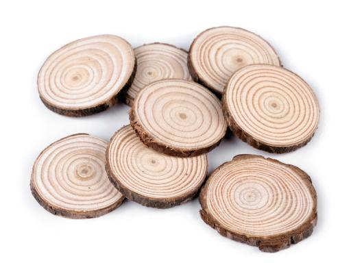 Prírodné drevené kolečko na domaľovanie buk 1sáčok