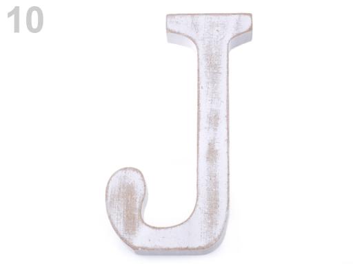 Drevené písmená abecedy vintage biela prírodná 1ks