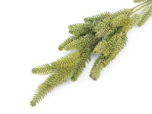 Umelá vetvička ihličňan na aranžovanie zelená sv. 1ks