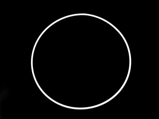 Kovový kruh pre lapač snov Ø20 cm biela 1ks