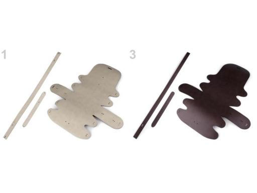 Polotovar na výrobu kabelky s rúčkou ecru 1ks