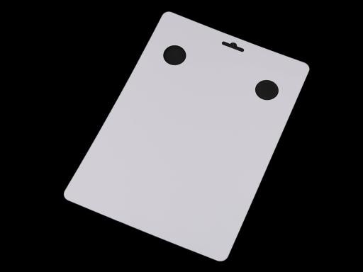 Karta na vystavenie šatky 21x29,7 cm biela 20ks
