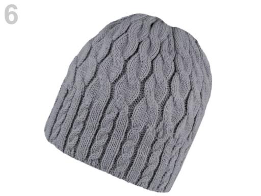 Dámska zimná čiapka pletená modrá tmavá 1ks