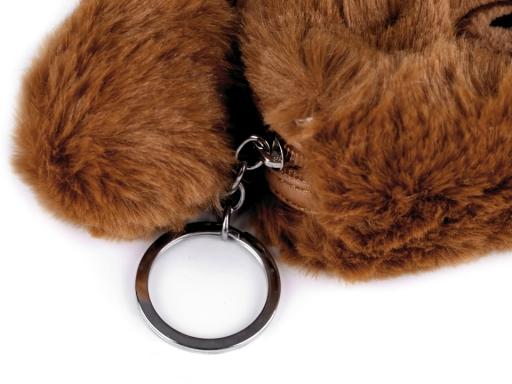 Detská kožušinová peňaženka / puzdro medvedík 9x12 cm modrá nezábudková 1ks