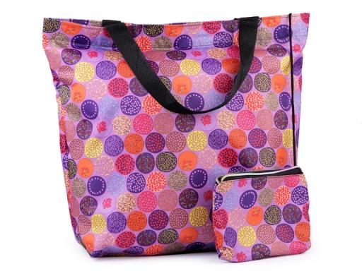 Skladacia nákupná taška 41x45 cm pevná pink 1ks