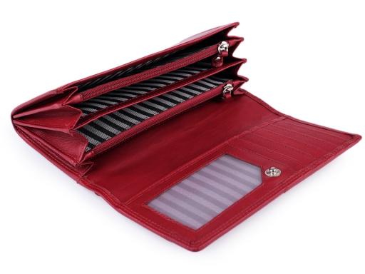 Dámska peňaženka kožená červená 1ks