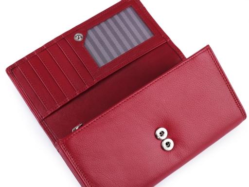 Dámska peňaženka kožená čierna 1ks