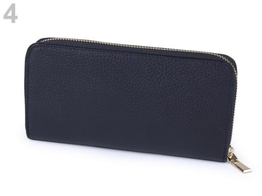 Dámska peňaženka kožená modrá tmavá 1ks