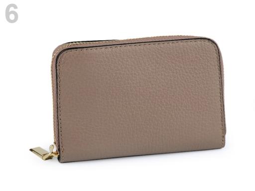 Dámska peňaženka kožená béžová 1ks