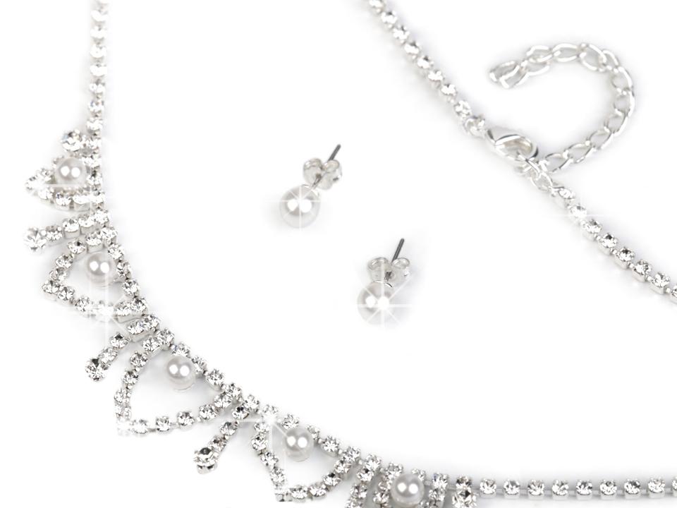 Svadobná štrasová súprava s perlami - jablonecká bižutéria ... f1a1e9095f4