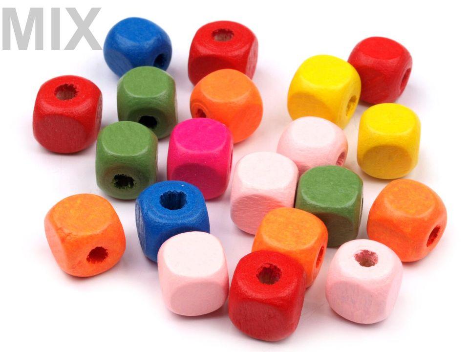 Textillux.sk - produkt Drevené koráliky  kocka 10x10 mm