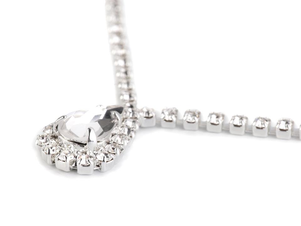 Štrasový náhrdelník - jablonecká bižutéria