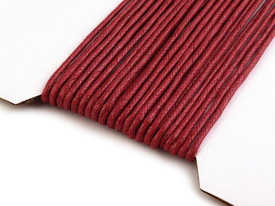 Textillux.sk - produkt Šnúra bavlnená Ø2 mm voskovaná