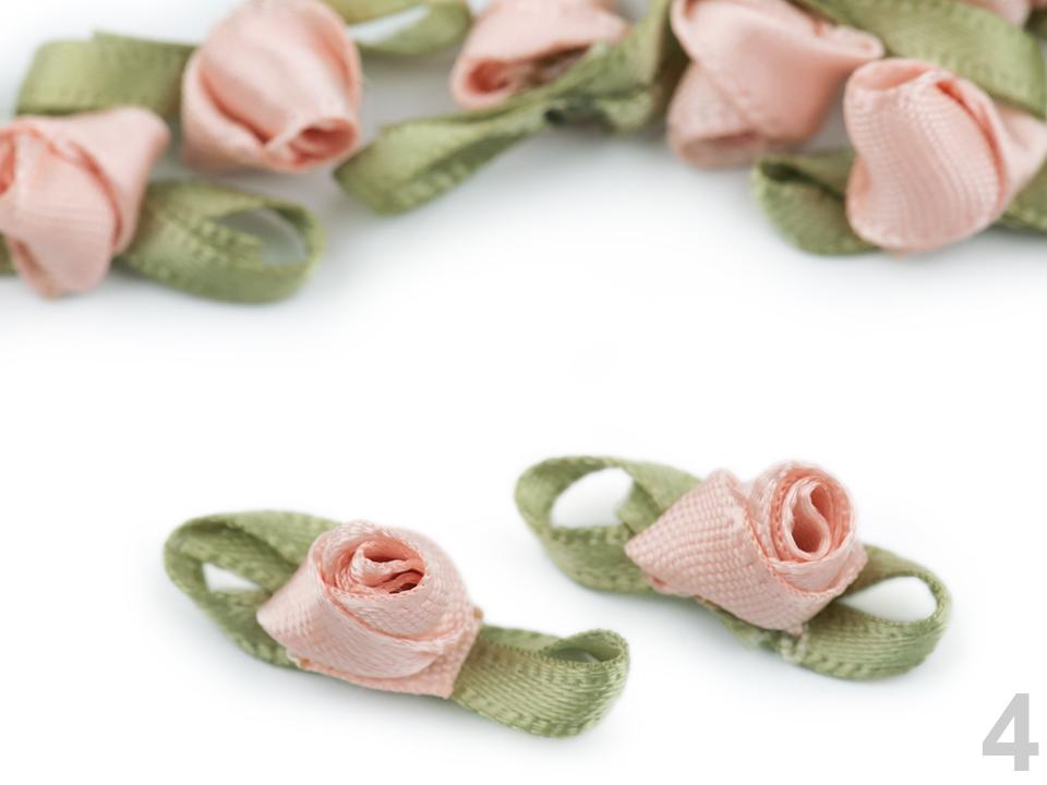 Textillux.sk - produkt Saténová ružička / púpätko s lístkami