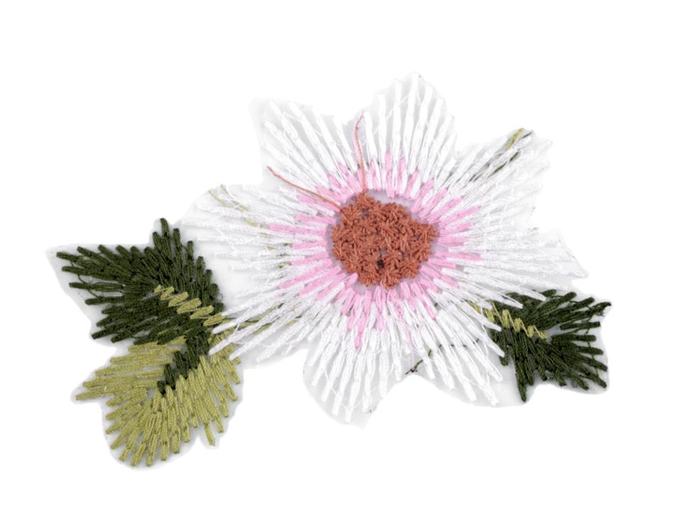 Textillux.sk - produkt Vyšívaná aplikácia kvet na monofile