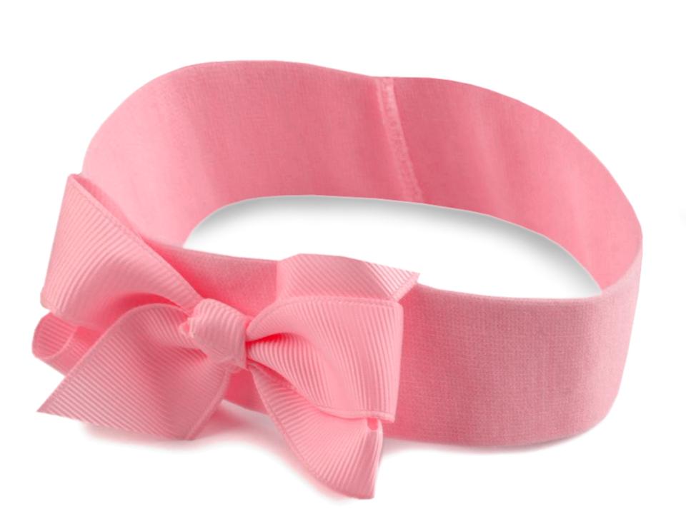 99f03d551 Detská elastická čelenka do vlasov s mašľou | STOKLASA textilní galanterie
