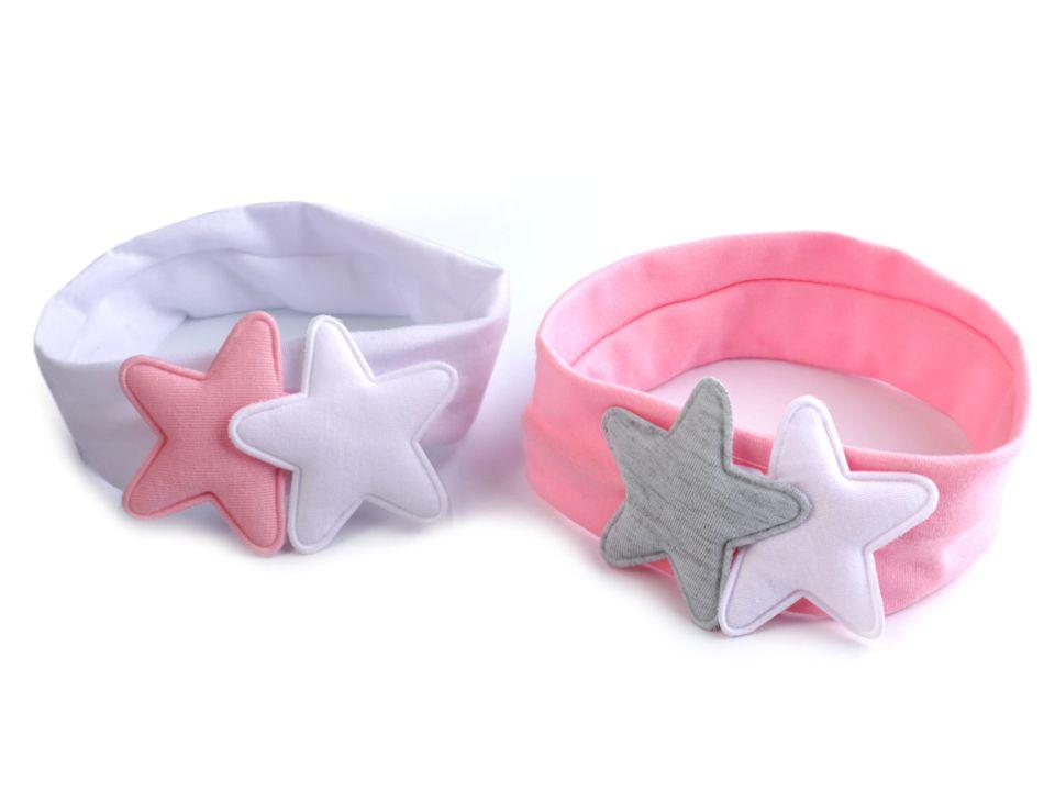 Detská elastická čelenka do vlasov s hviezdami  ccd7511cac
