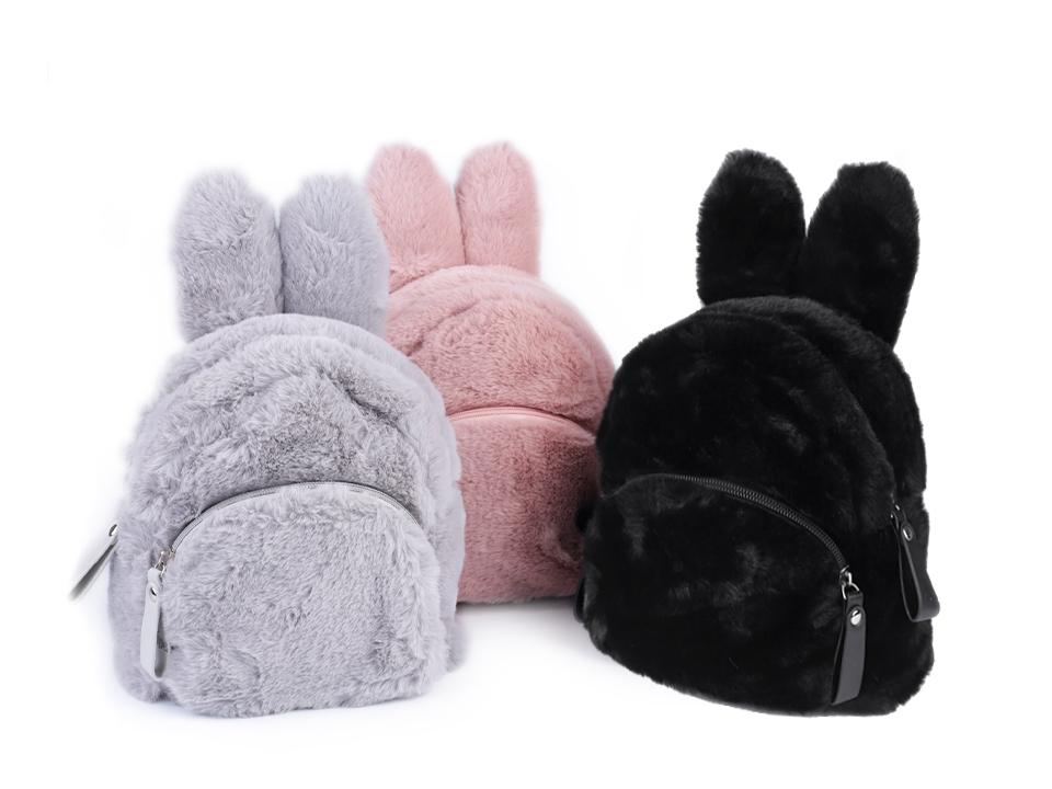 9769735445 Dievčenský kožušinový batoh zajac
