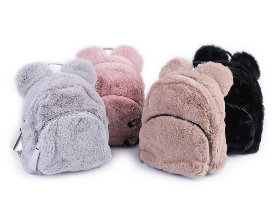 a09210c974 Dievčenský kožušinový batoh medvedík