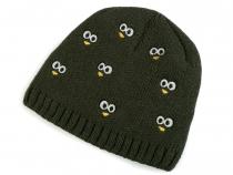 82ba56dd7 Detská zimná čiapka s výšivkou očí | STOKLASA textilní galanterie